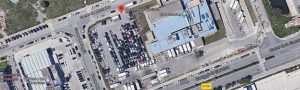 Foto aérea de nuestras instalaciones en el Prat de Llobregat Barcelona con capacidad para 210 vehículos.